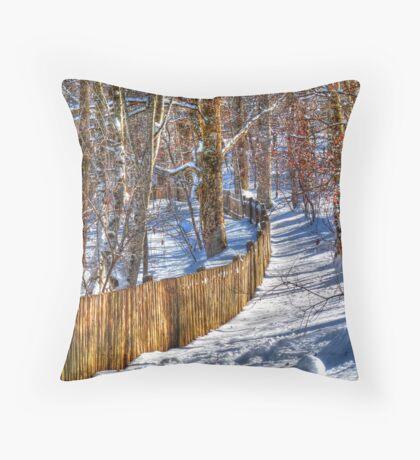 Winter Pickets Throw Pillow