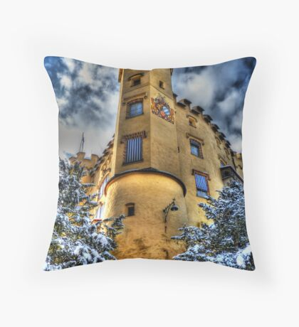 Hohenschwangau Castle - Courtyard View Throw Pillow
