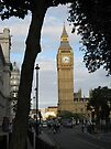 Big Ben Through the Tree by ValeriesGallery