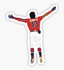 Ronald Acuña Jr. Home Run Celebration  Sticker