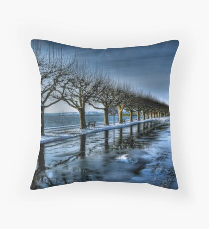 Trees of the Zugersee Throw Pillow