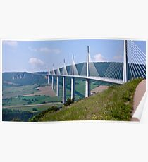 The Millau Viaduct - France Poster