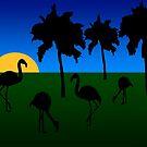 Flamingo Sunrise by KirtTisdale