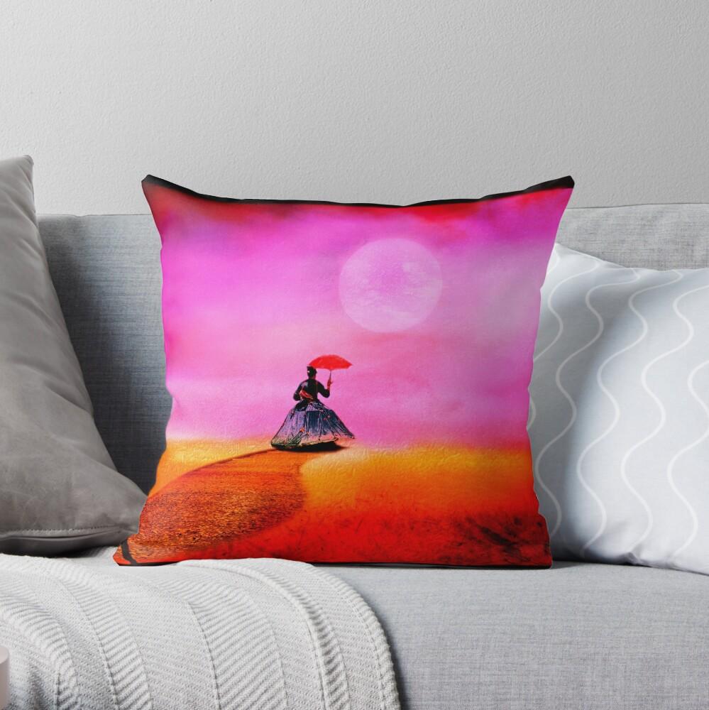 Moon Lady Throw Pillow