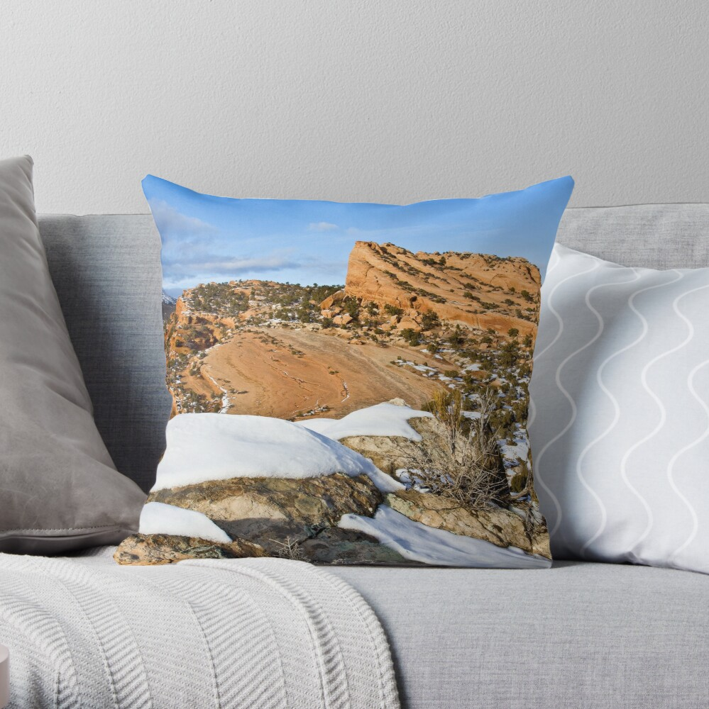 Red Fleet from the Loop Trail Throw Pillow