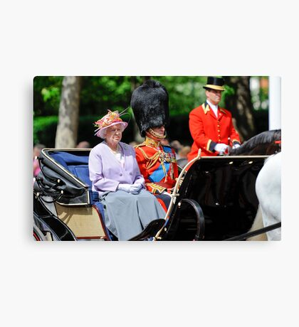 The Queen and Prince Philip: Trooping the Colours, London, Pall Mall, June 2010 Canvas Print