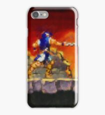 Castle Vania retro painted pixel art iPhone Case/Skin