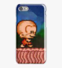 Bonk / BC Kid retro painted pixel art iPhone Case/Skin