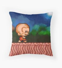 Bonk / BC Kid retro painted pixel art Throw Pillow
