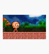 Bonk / BC Kid retro painted pixel art Photographic Print