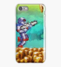 Turrican retro painted pixel art iPhone Case/Skin