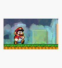 Super Mario retro painted pixel art Photographic Print