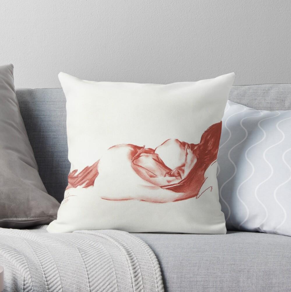 Euterpe Drawing Throw Pillow
