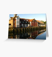 Reflections, Stoke Maltings, Ipswich Greeting Card
