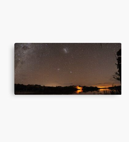 Camping Under the Stars Panorama Canvas Print