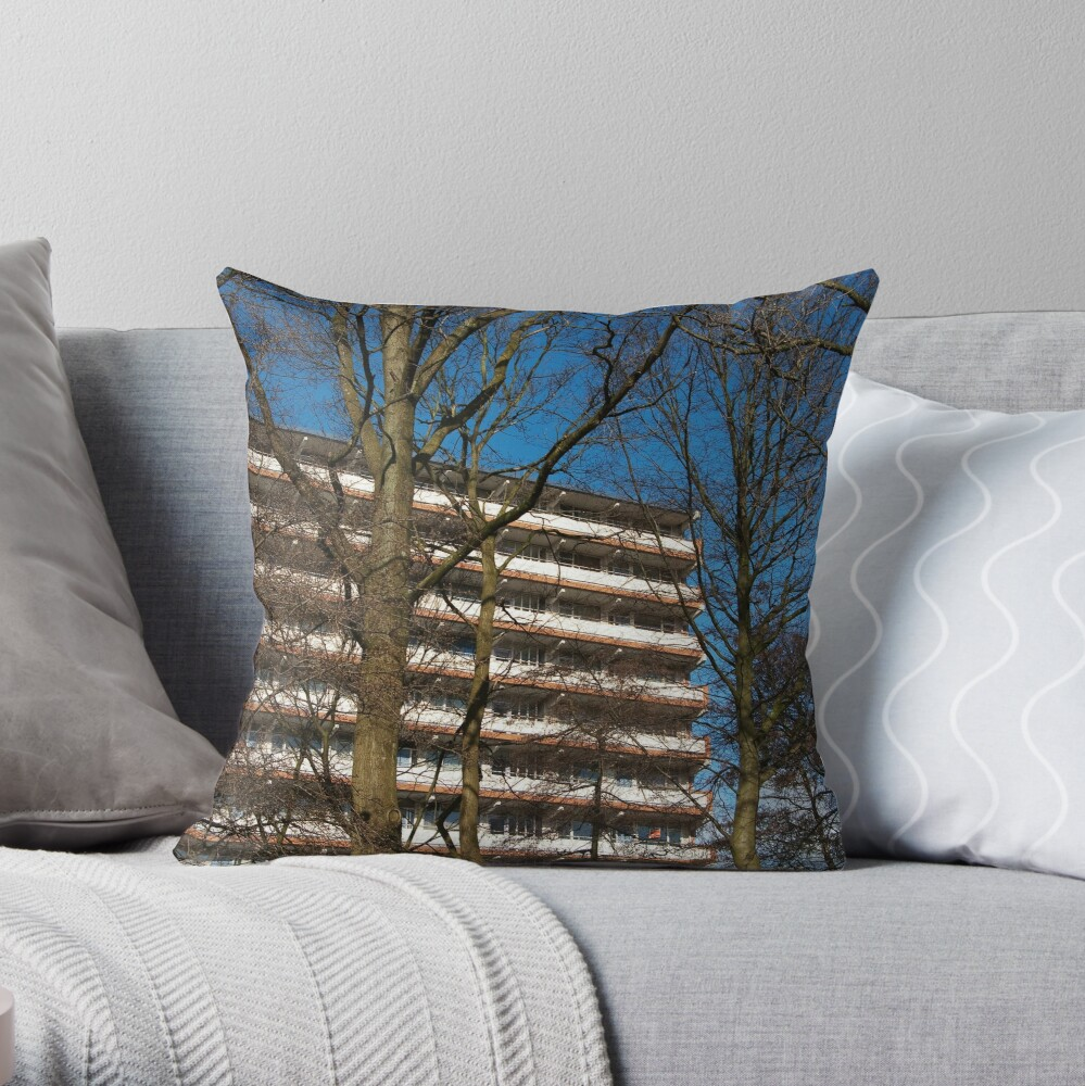 City of steel and concrete  Throw Pillow