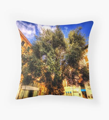 Father Time Lives Here Throw Pillow