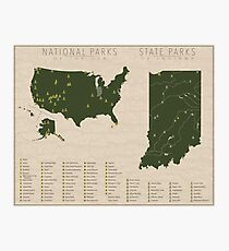 US-Nationalparks - Indiana Fotodruck