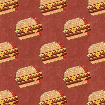 FAST FOOD / Burger - pattern by danielcoulmann