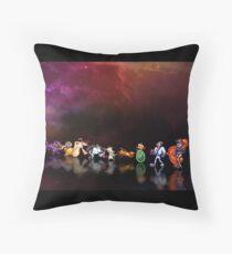 Earthworm Jim pixel art Throw Pillow
