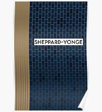 SHEPPARD-YONGE Subway Station Poster