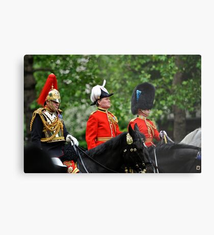 Three Big Hats: Trooping the Colours. London. UK Metal Print