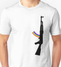 Machine Gun Silhouette - AK-47 Edition Unisex T-Shirt