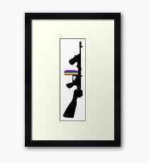 Machine Gun Silhouette - Tommy Gun Edition Framed Print
