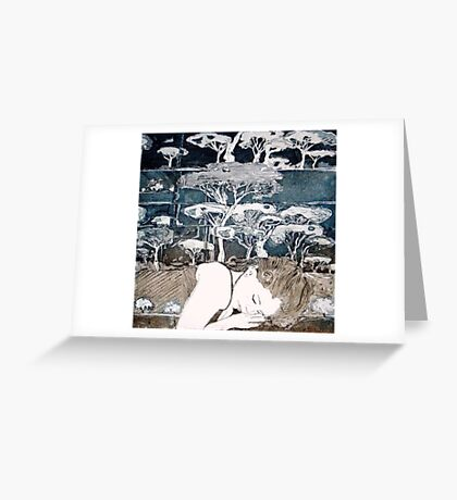 """Dreaming of Life"" Aquatint Etching Greeting Card"