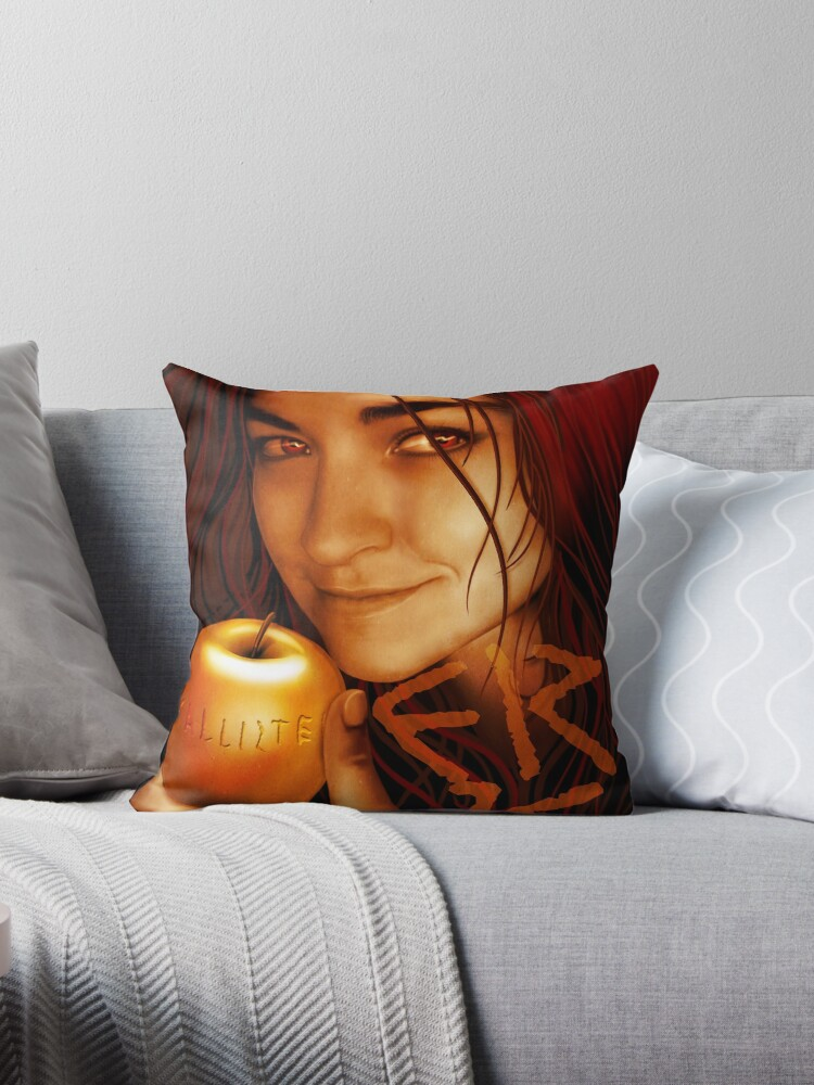 'The Apple of Discord' Throw Pillow by Ivy Izzard