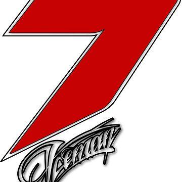 Kimi Räikkönen 7 red by upick