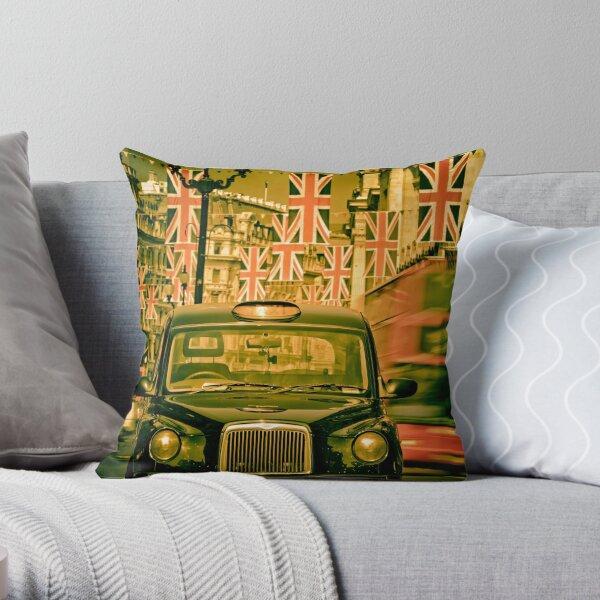 London. Regent Street. Royal Wedding Flags. Throw Pillow