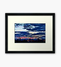 Distant Storm Framed Print