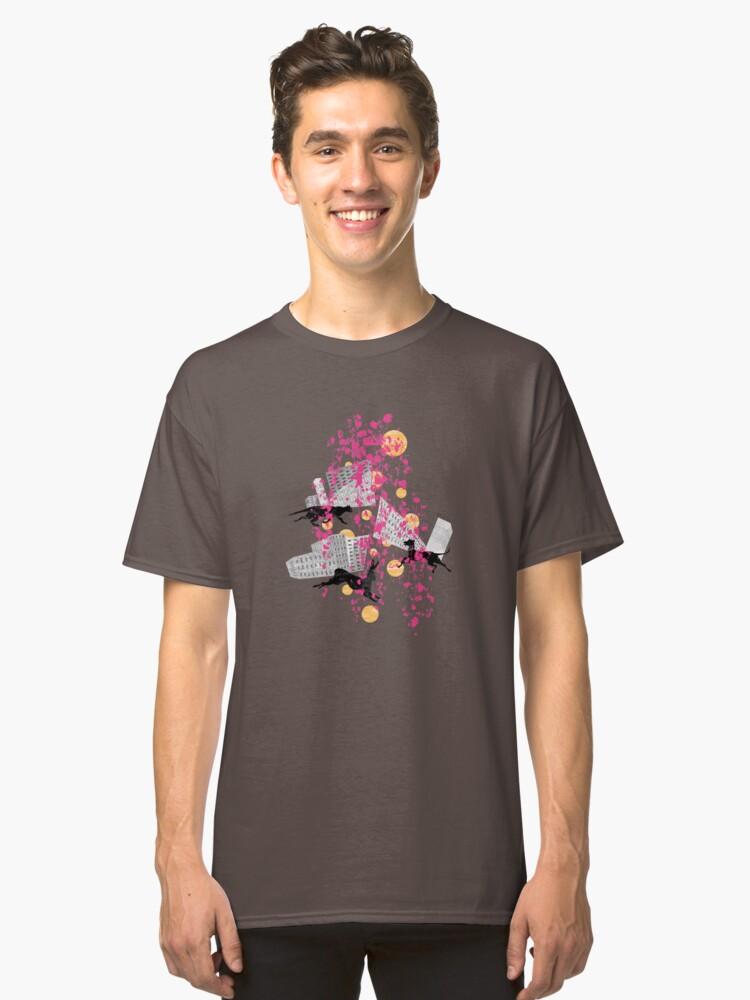 weird city sunset Classic T-Shirt Front