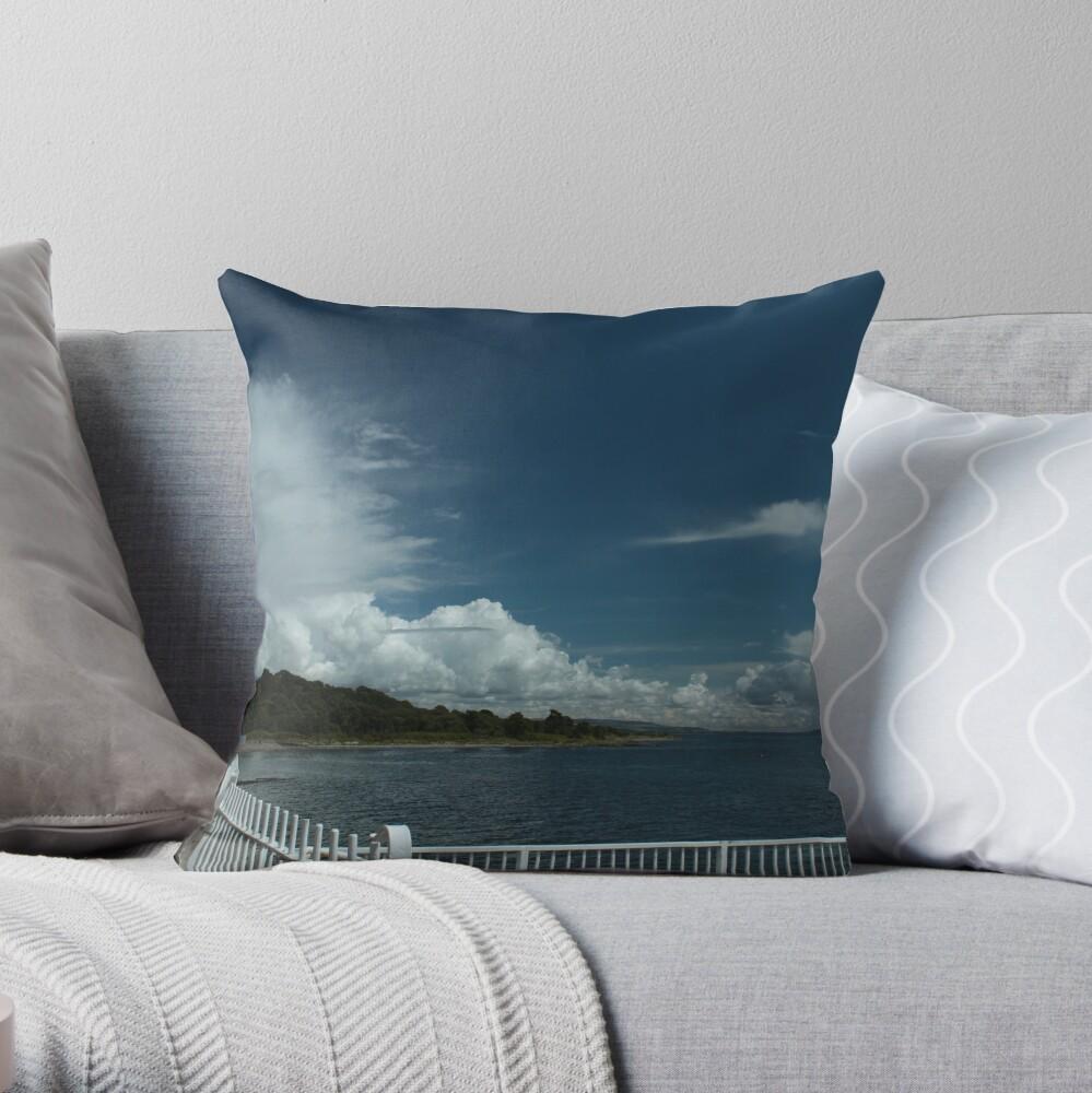 Kilcreggan Pier Throw Pillow