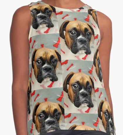Nicht glücklich - Boxer Dog Series Ärmelloses Top