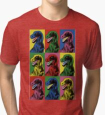 Dinosaur Pop Art Tri-blend T-Shirt