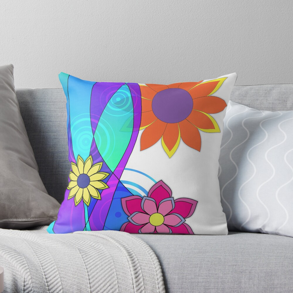 Hippie Dippy Throw Pillow