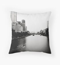 Yarra River in the Morning Throw Pillow