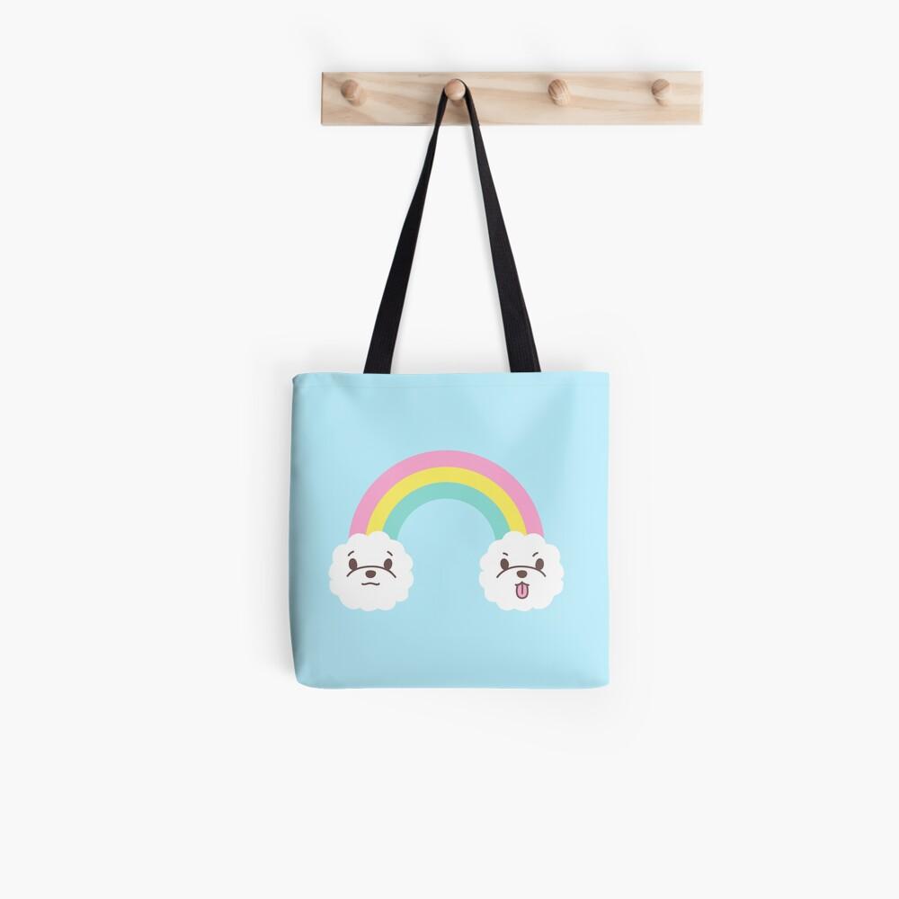 Rainbow Bichon  Tote Bag