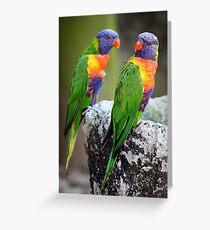 Lory Birds Greeting Card