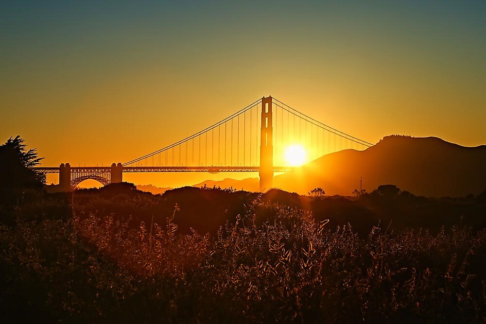 Golden Gate Sunrays by Leasha Hooker