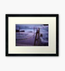 Chained Vision Framed Print