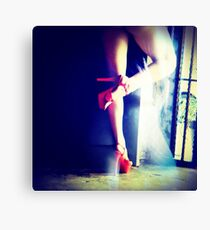 Red Heels Ghost Image Canvas Print