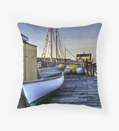 Boothbay Harbor, Maine Throw Pillow