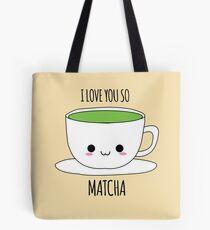 Ich liebe dich so Matcha Tasche