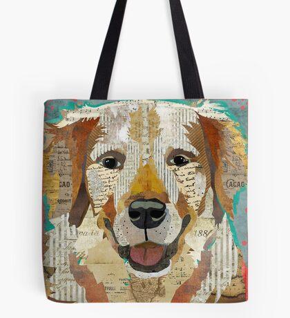 Golden Retriever Dog Portrait Colorful Collage Art  Tote Bag