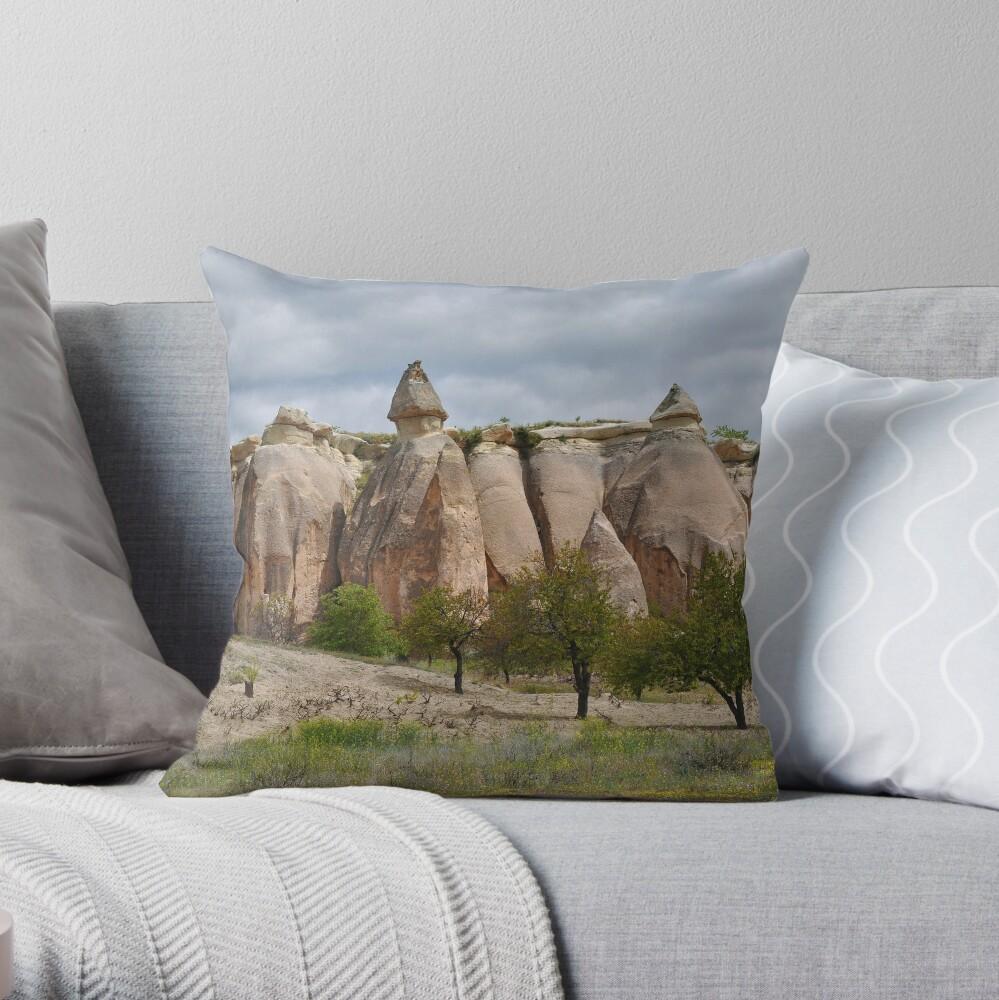 Fairy Chimneys Throw Pillow