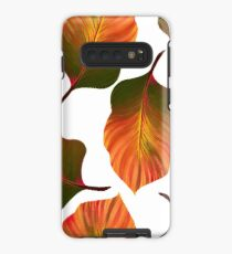 Tropical Leaves in Orange Case/Skin for Samsung Galaxy