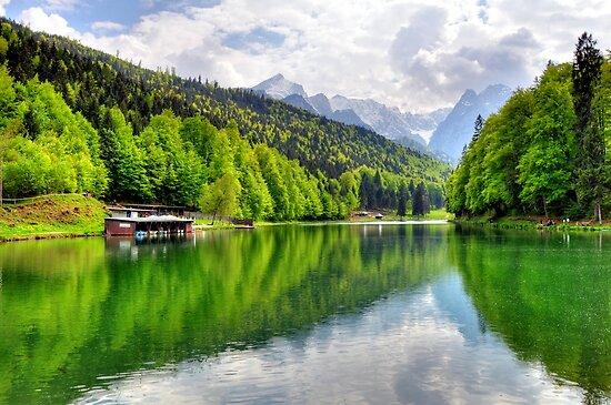 Lake Riessersee III. Germany. by Daidalos
